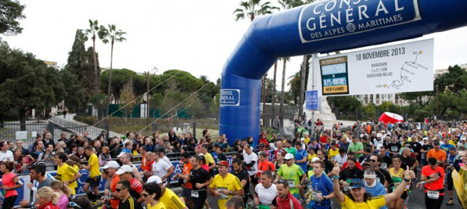 Nizza – Cannes Marathon am 9. November 2014